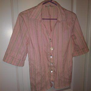 Elisa Cavaletti Pale Pink Blouse w/Stripes Size M